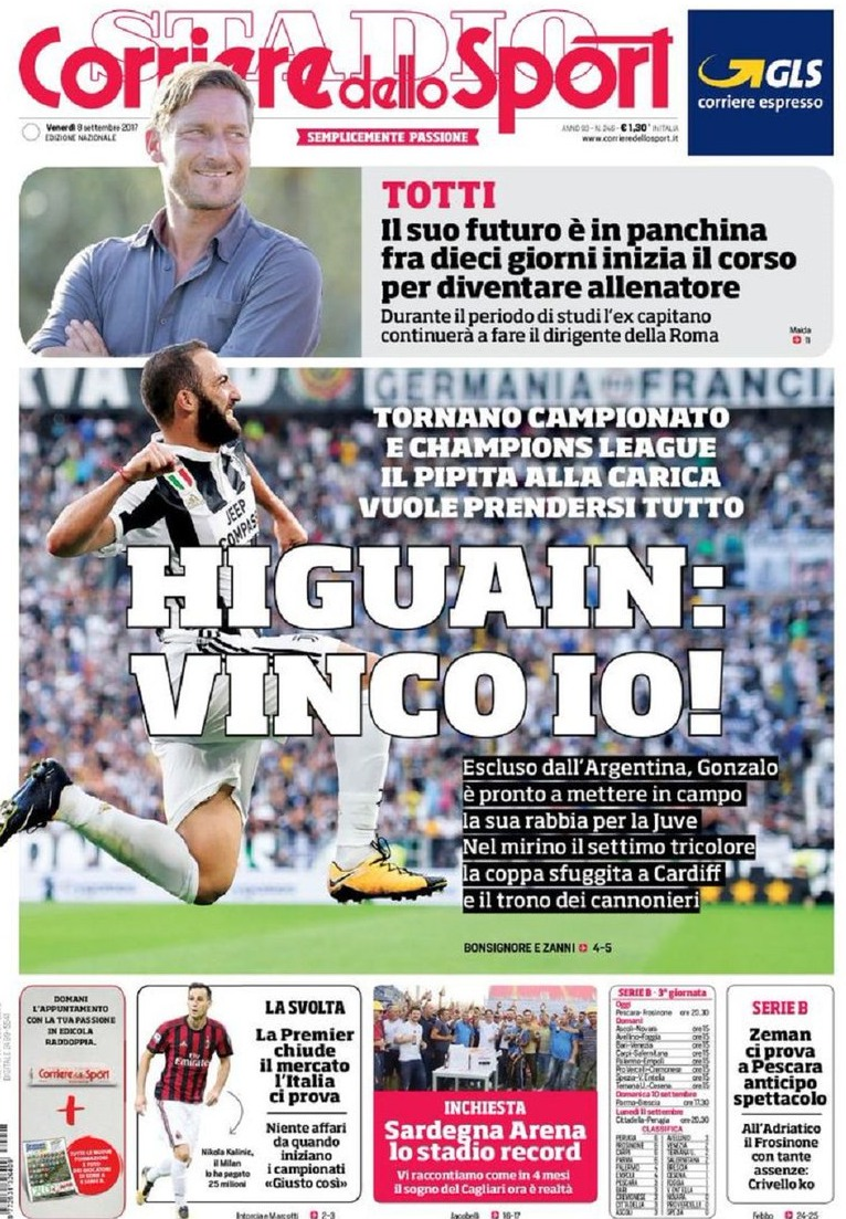 Corriere sport Higuain