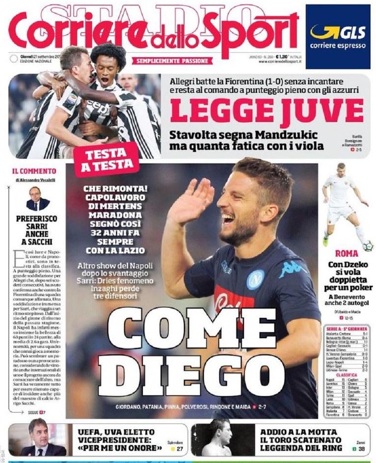 Corriere sport Mertens Diego