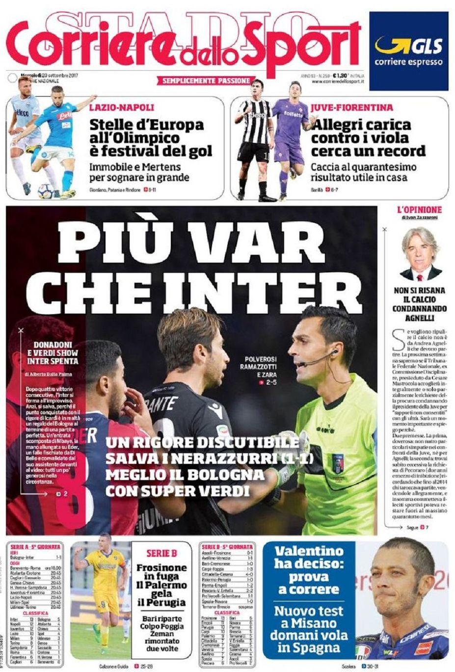 Corriere sport Var Inter