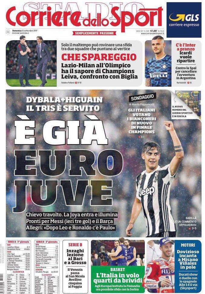 Corriere sport euro Juve