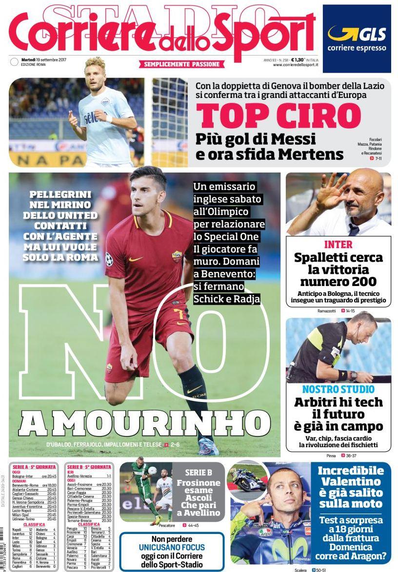Corriere sport no a Mourinho