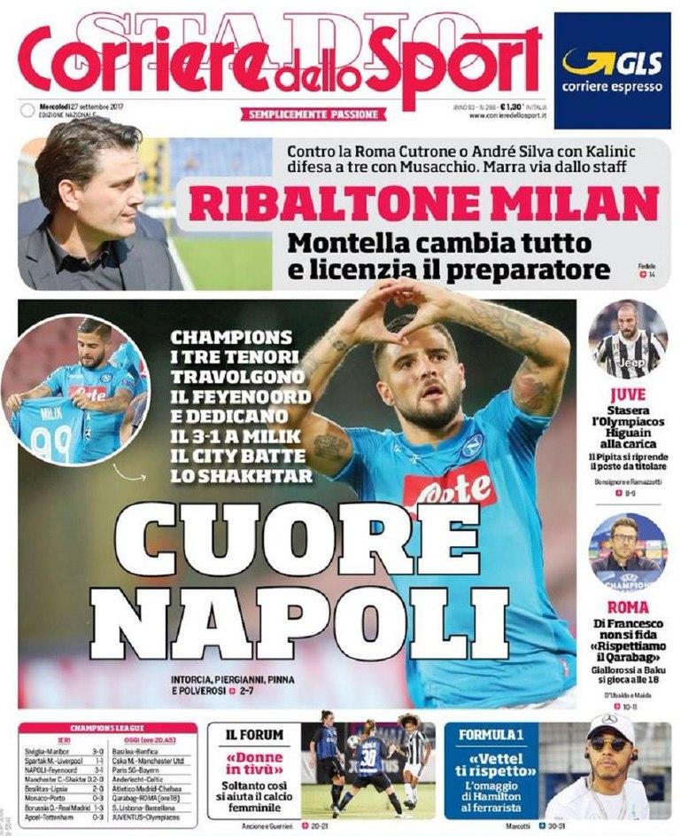 Corriere sport ribaltone Milan