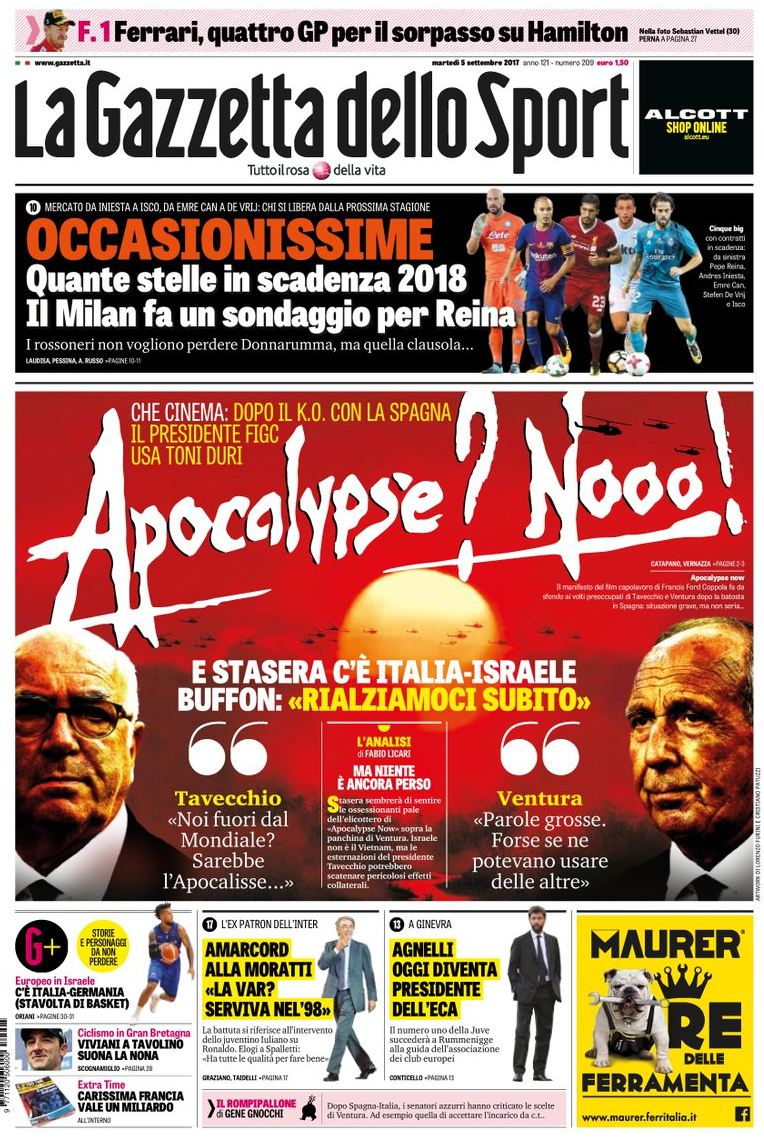 Gazzetta apocalisse Now