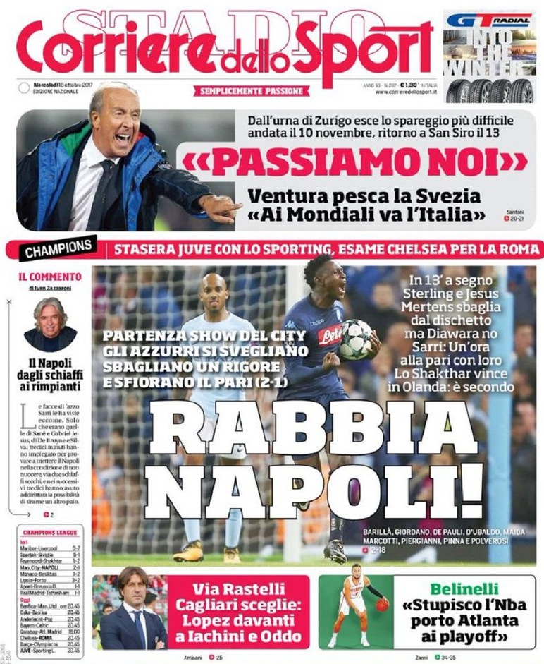 Corriere Rabbia Napoli