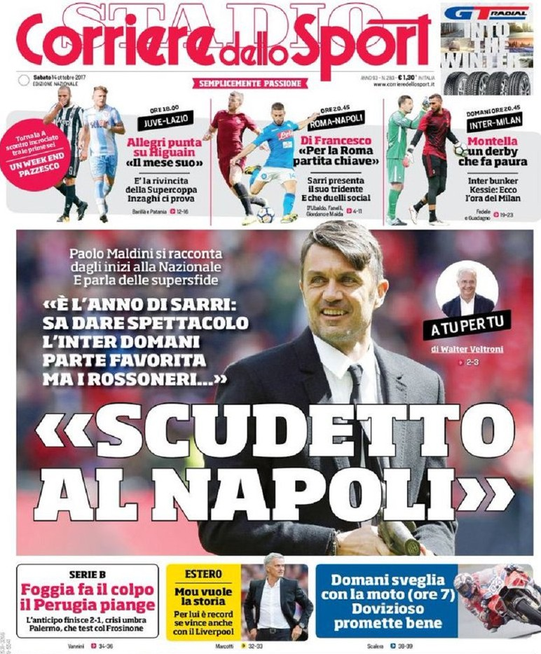 Corriere sport Maldini