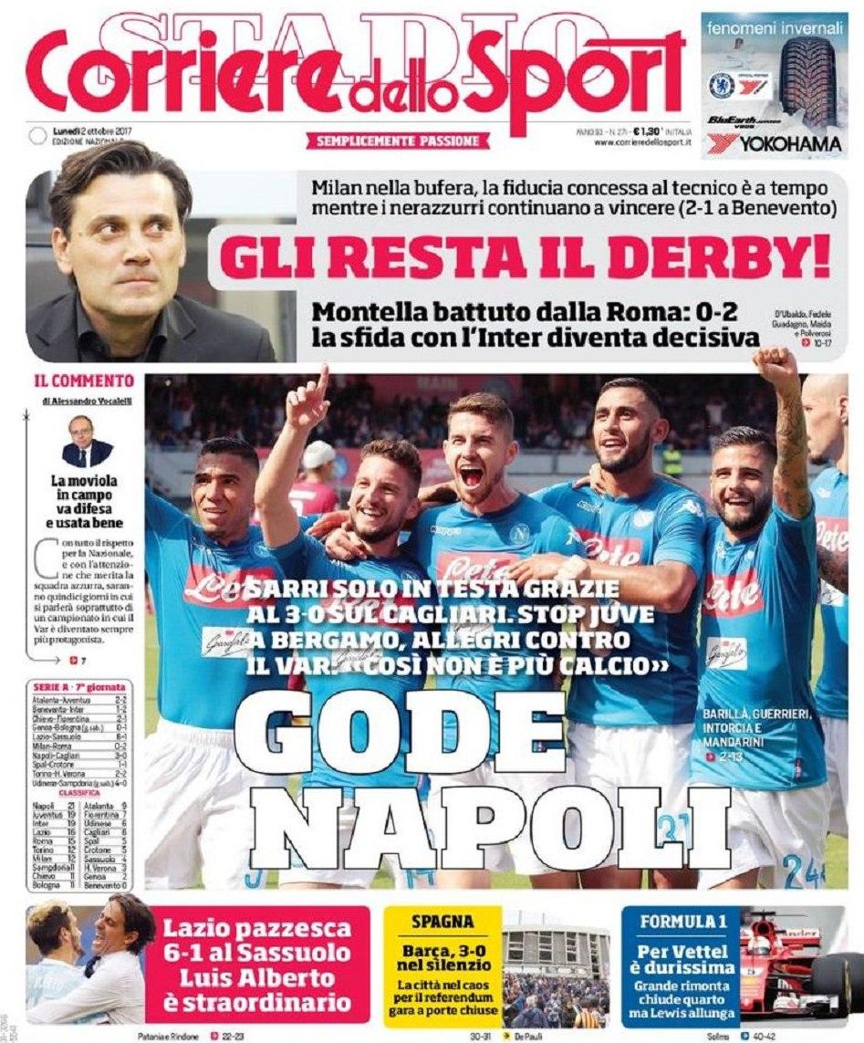Corriere sport gode Napoli