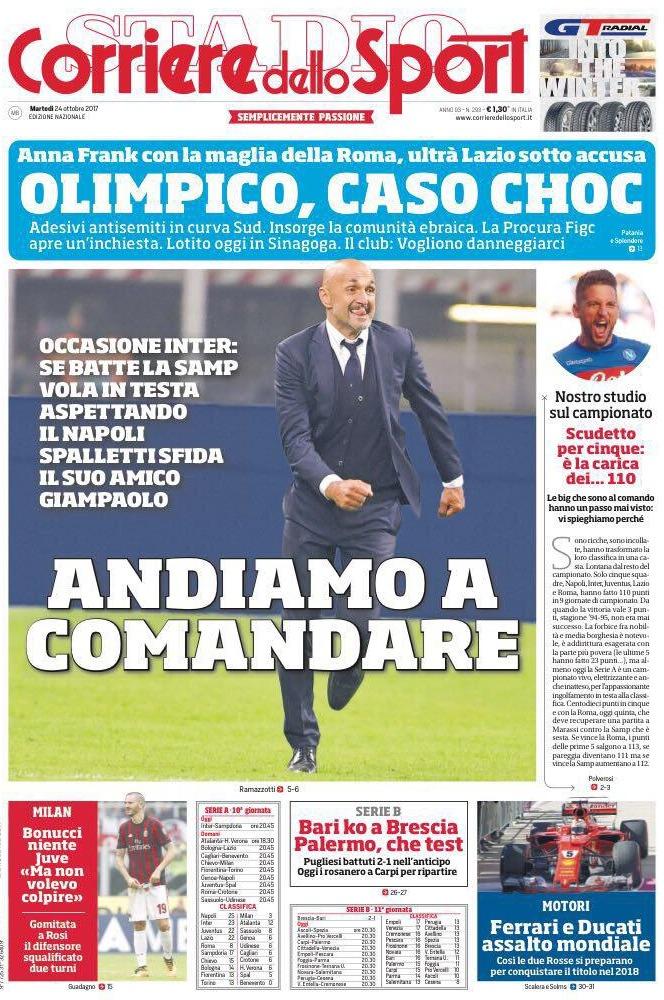 Corriere sport olimpico choc
