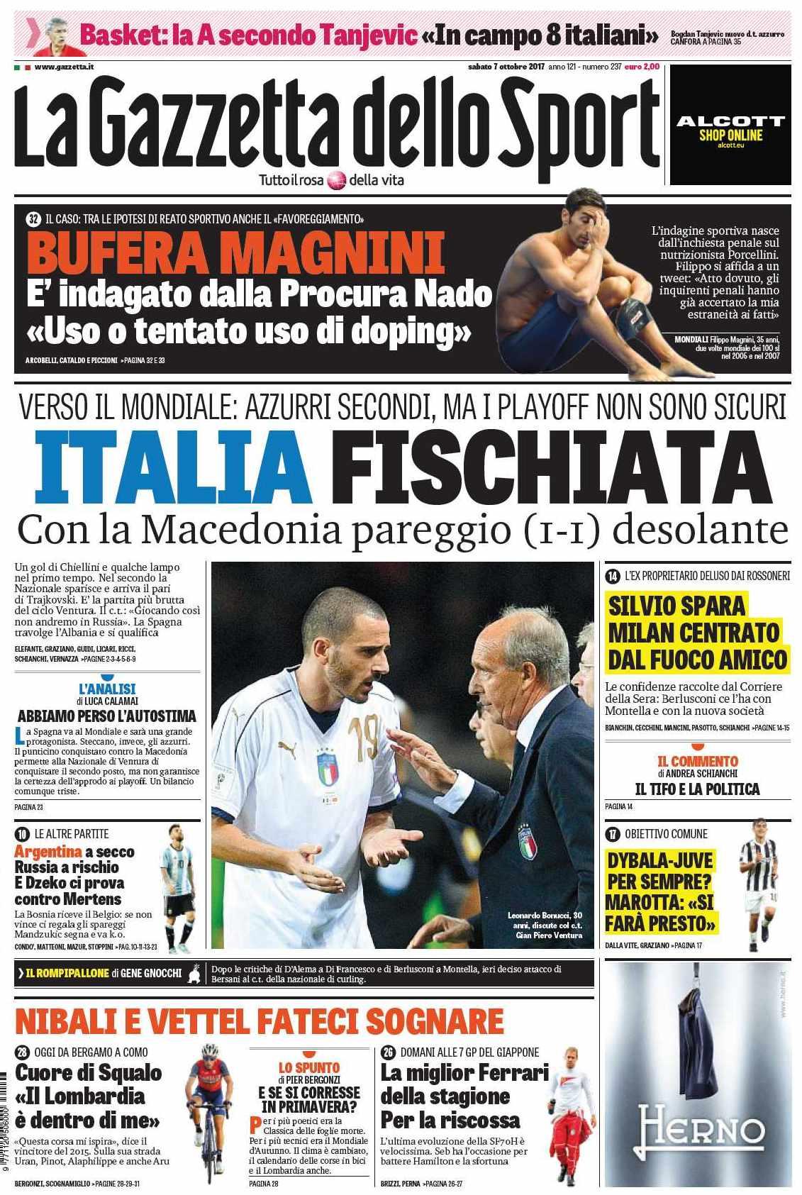 Gazzetta Italia fischiata