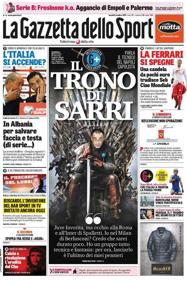 Gazzetta trono di Sarri