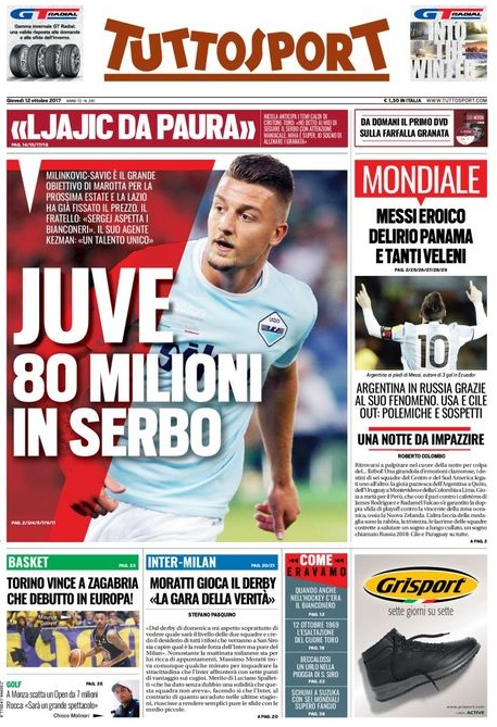 Tuttosport 80 milioni