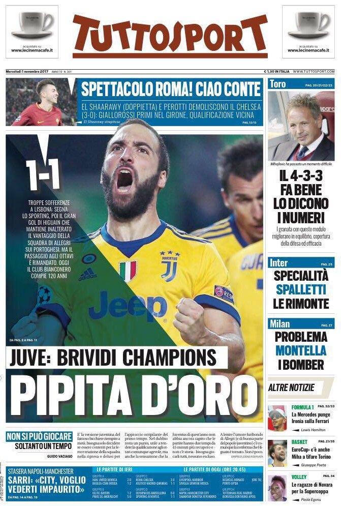 Tuttosport ciao Conte