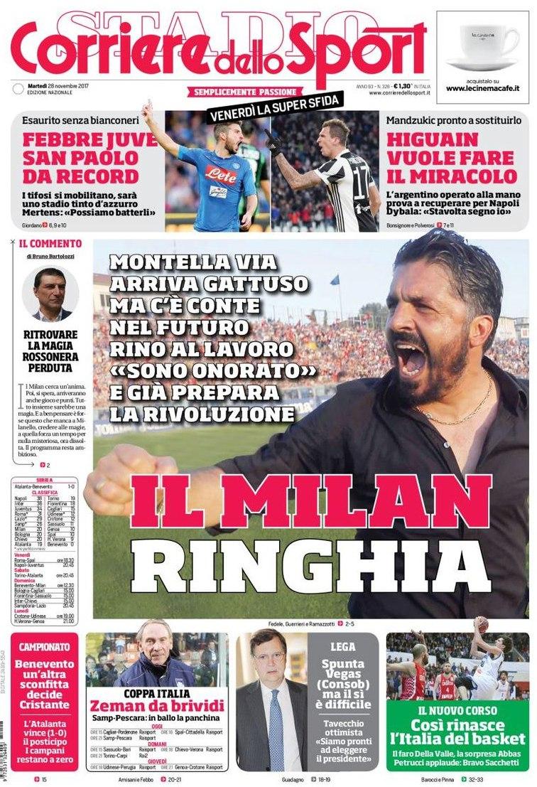 Corriere Milan ringhia