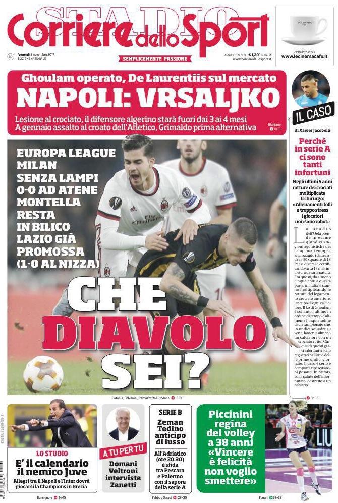 Corriere dello Sport Che diavolo