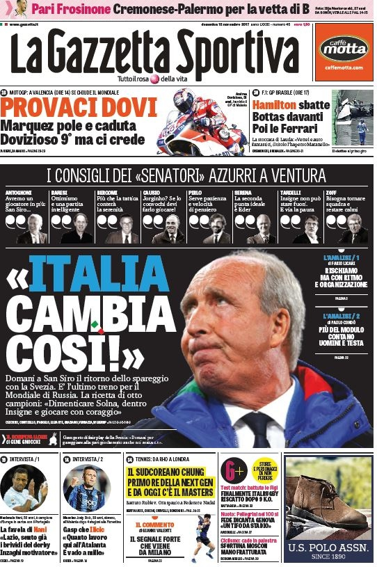 Gazzetta Italia cambia così