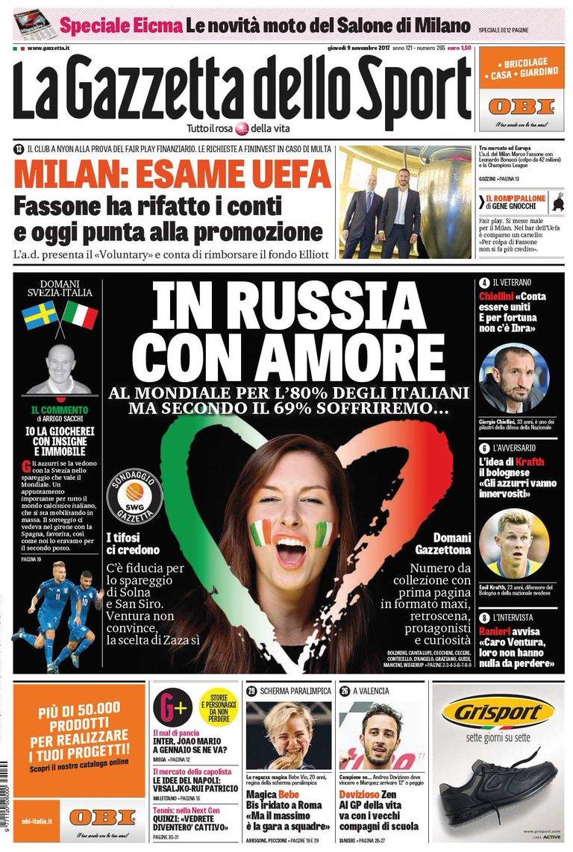 Gazzetta russia amore