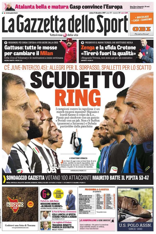 Gazzetta scudetto ring