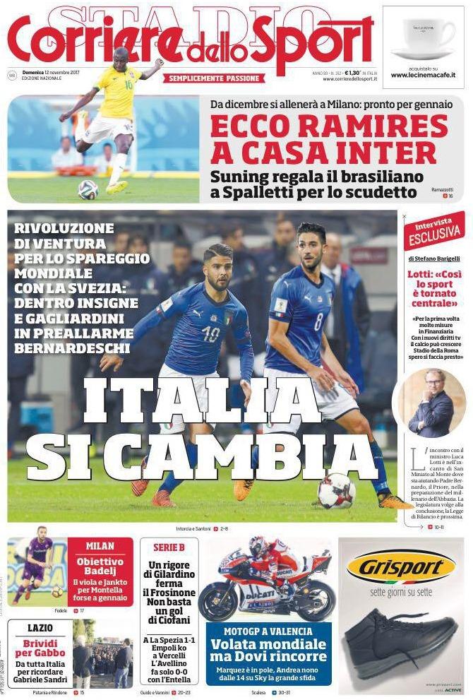 corriere sport Italia cambia