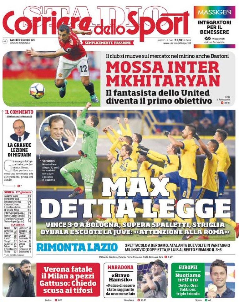 Corriere Max detta legge
