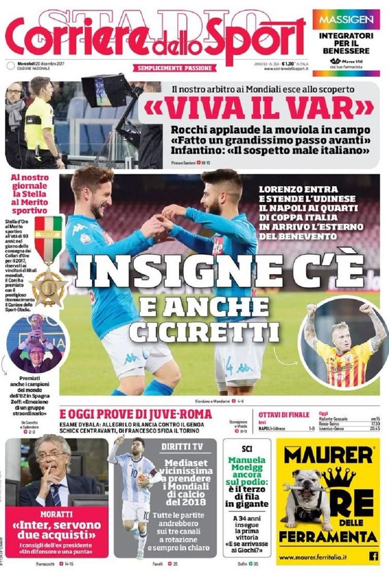Corriere sport Insigne