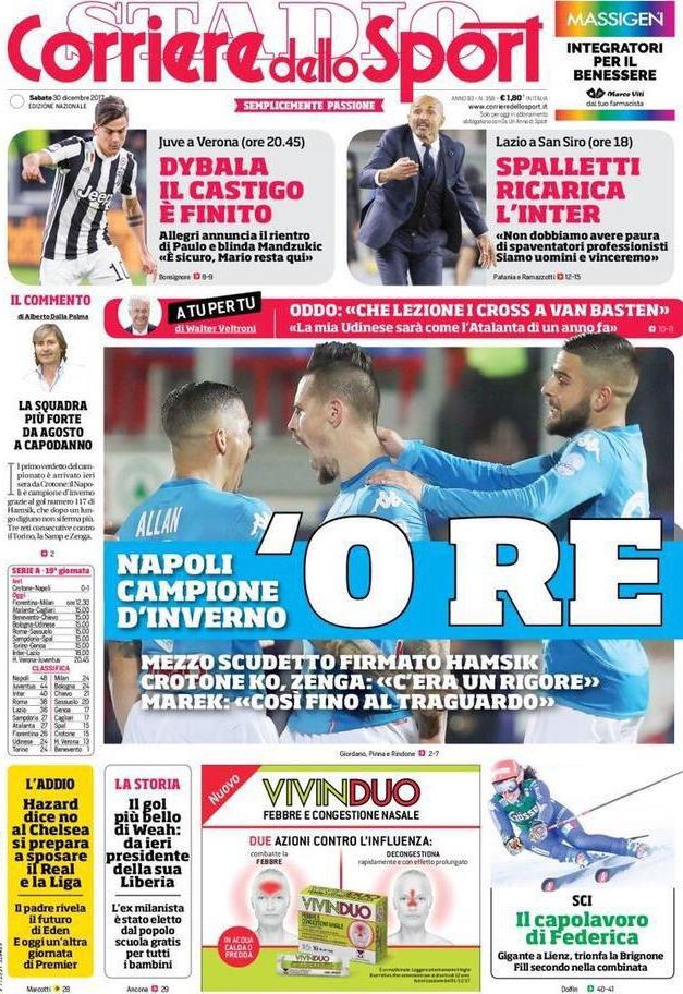 Corriere sport Napoli Re