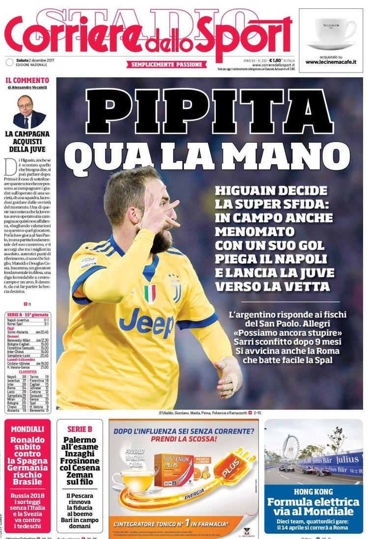 Corriere sport Pipita mano