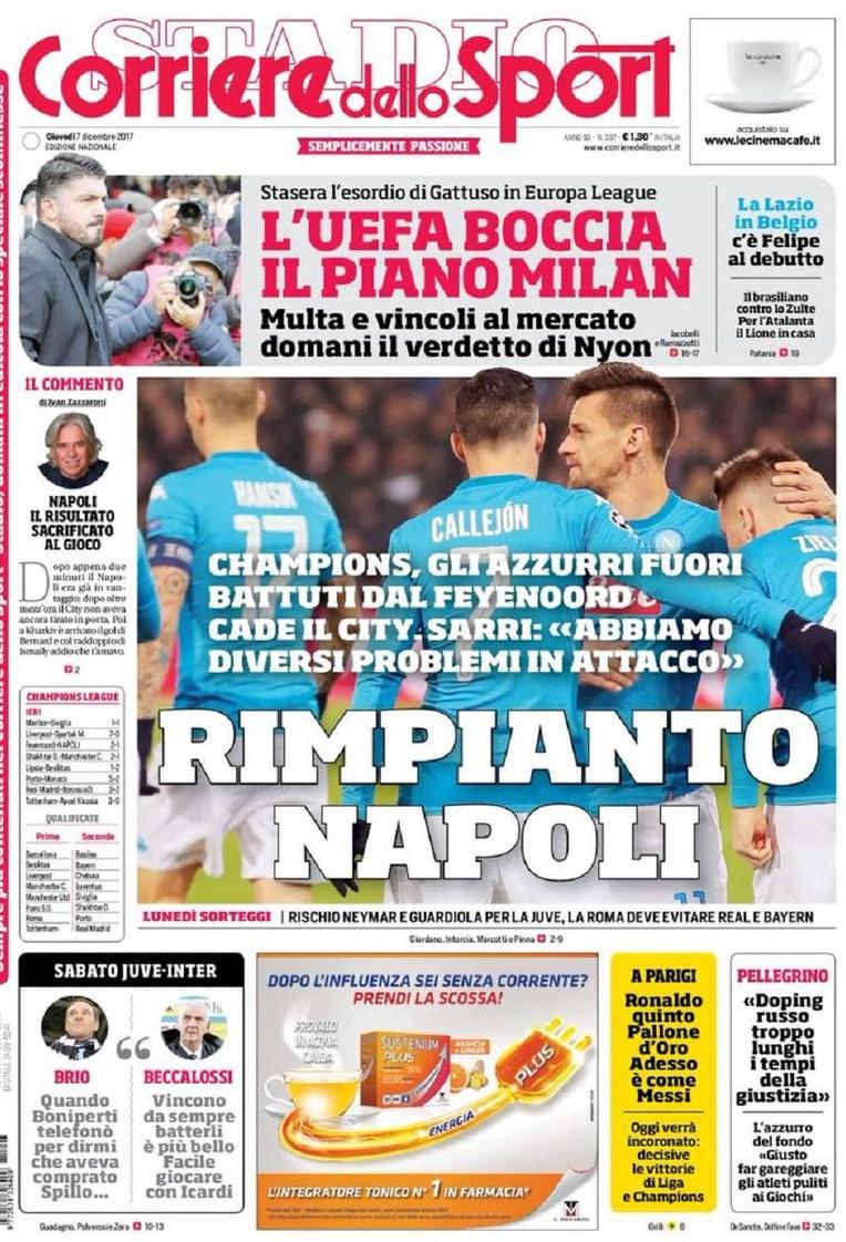 Corriere sport rimpianto Napoli