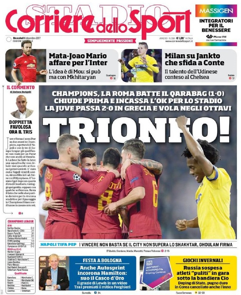 Corriere sport trionfo