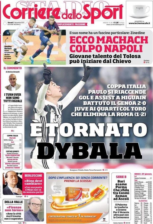 Corriere tornato Dybala