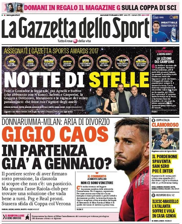 Gazzetta Gigio caos