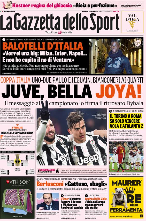 Gazzetta Juve Bella Joya
