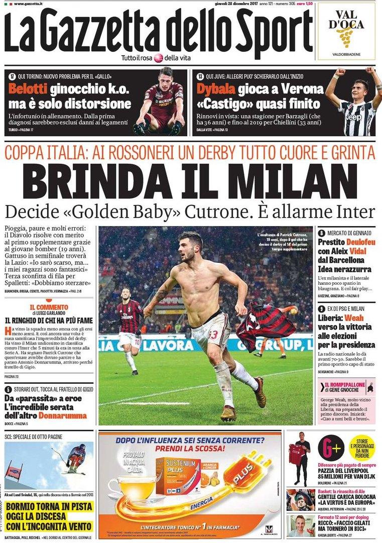 Gazzetta brinda Milan