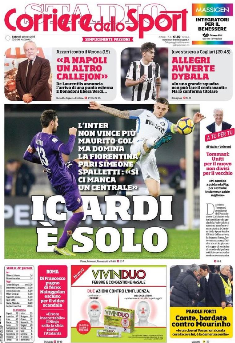 Corriere Icardi solo