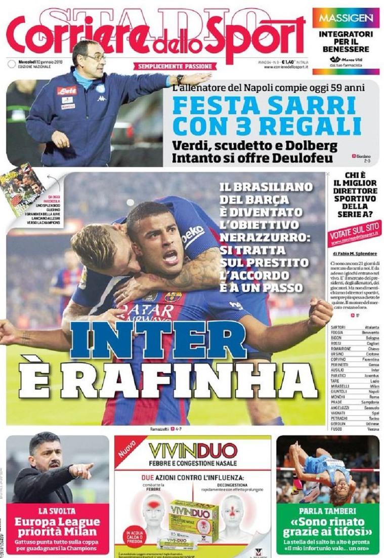 Corriere Inter rafinha