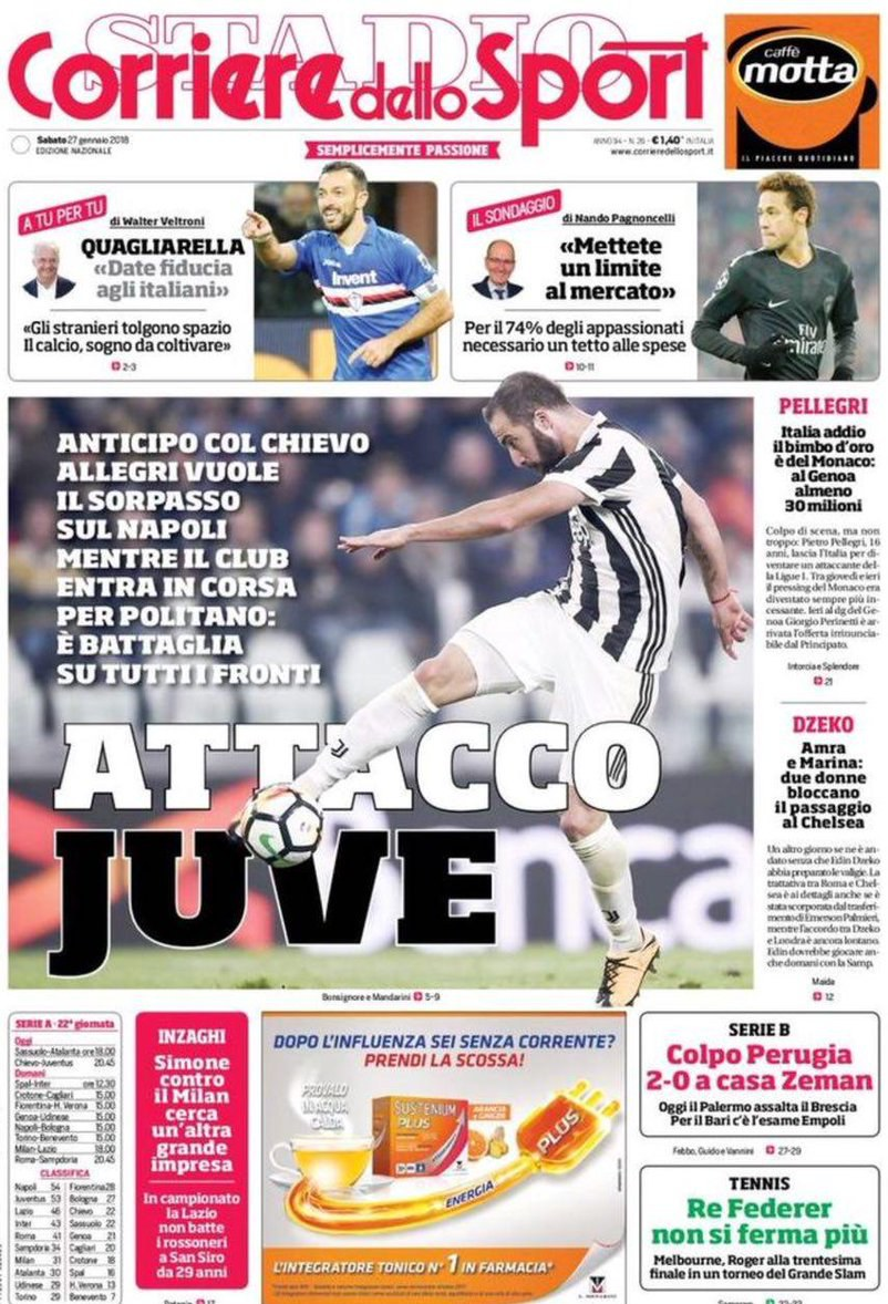 Corriere attacco Juve