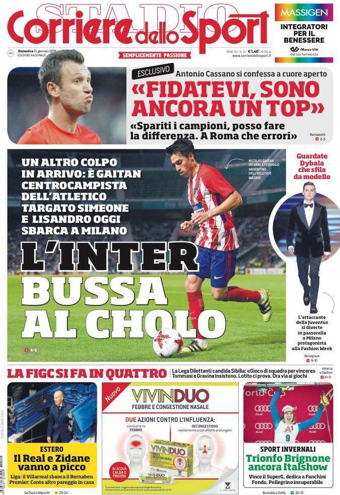 Corriere sport Cholo