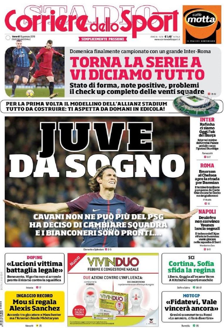Corriere sport Juve sogno