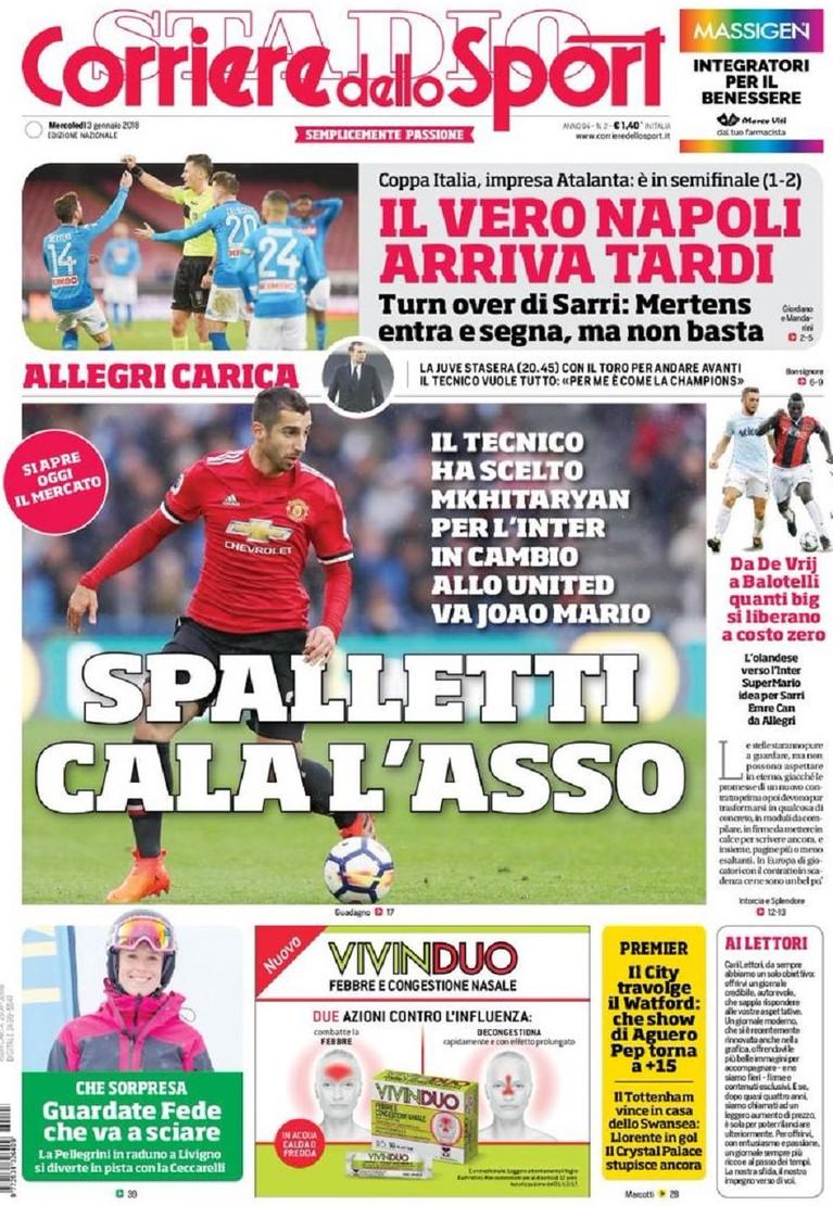 Corriere sport Spalletti asso