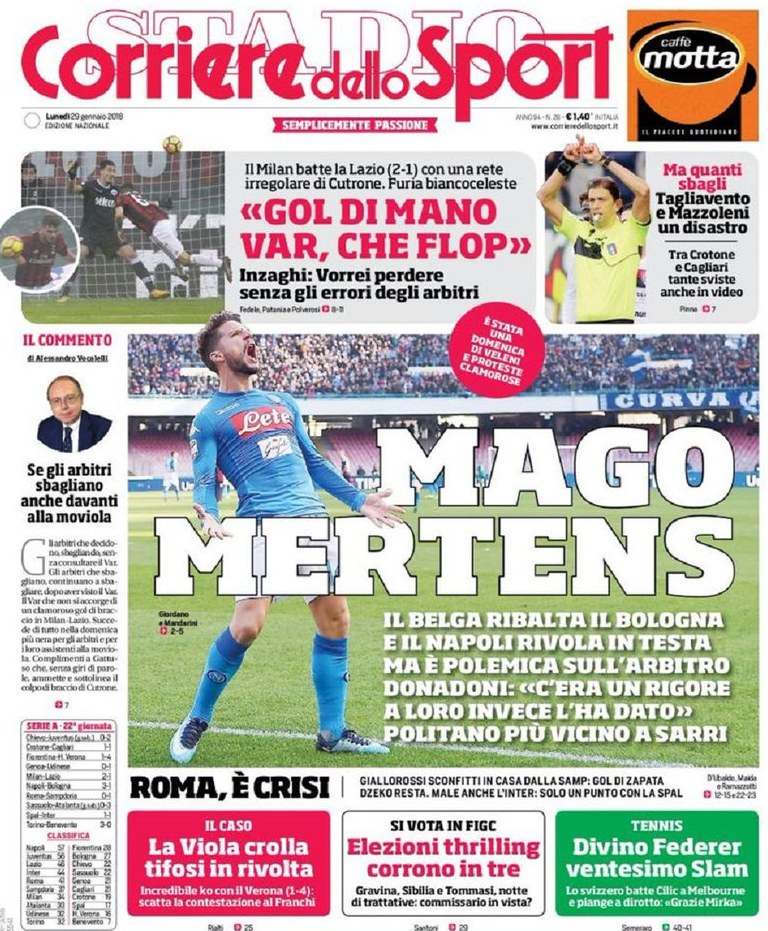 Corriere sport mago Mertens