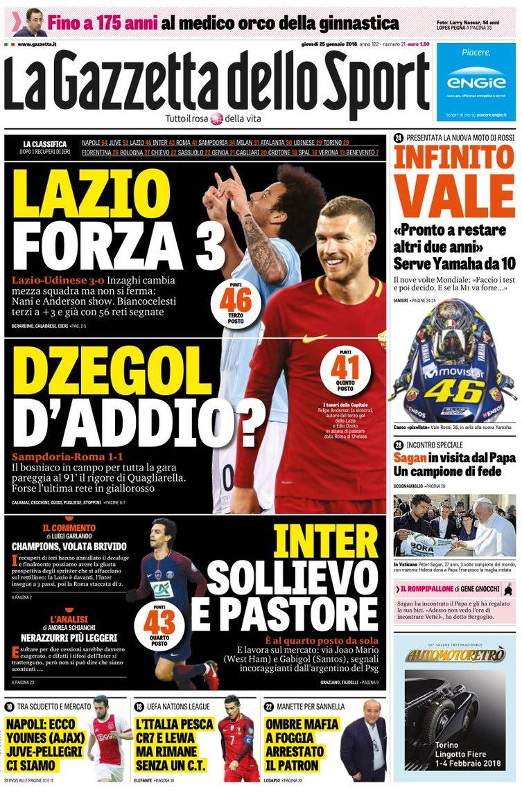 Gazzetta Dzeko Lazio