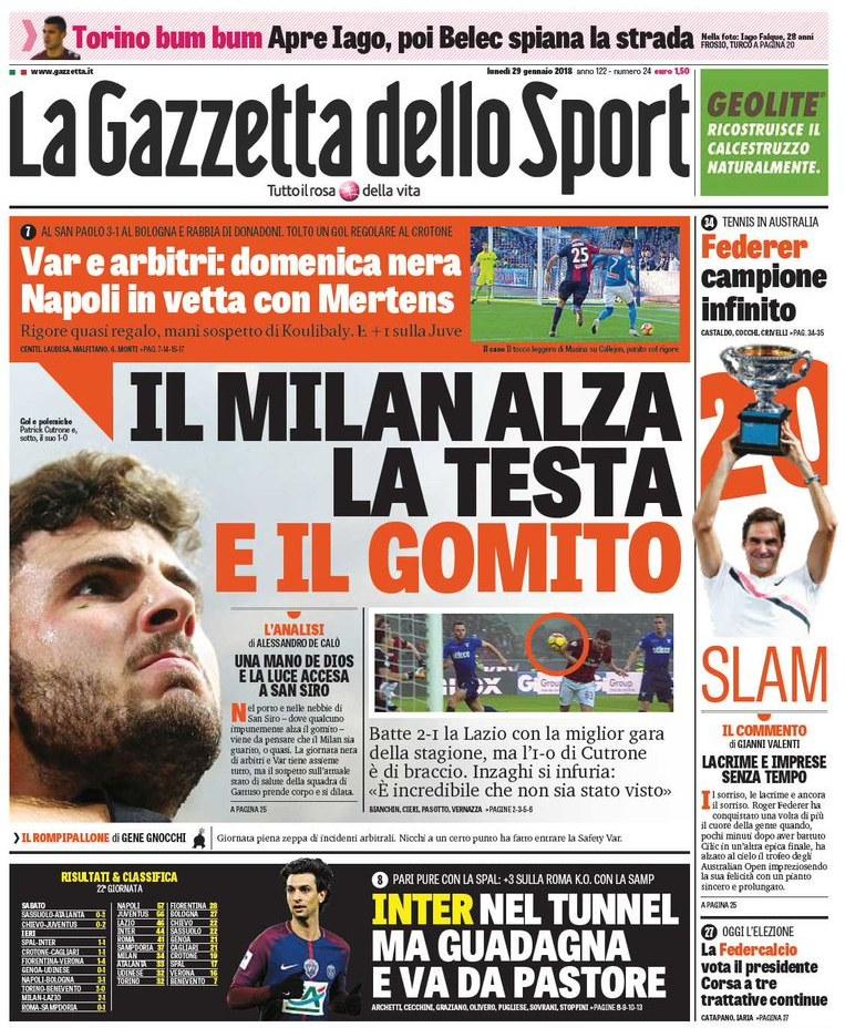 Gazzetta Milan gomito