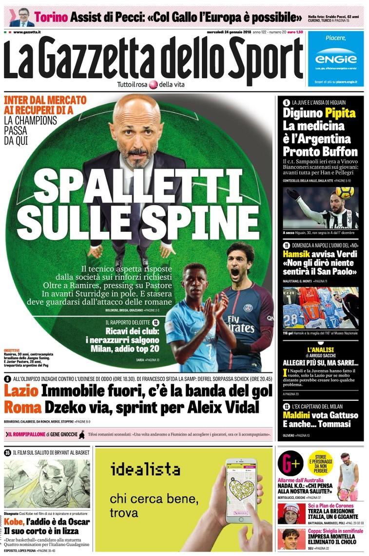 Gazzetta Spalletti spine