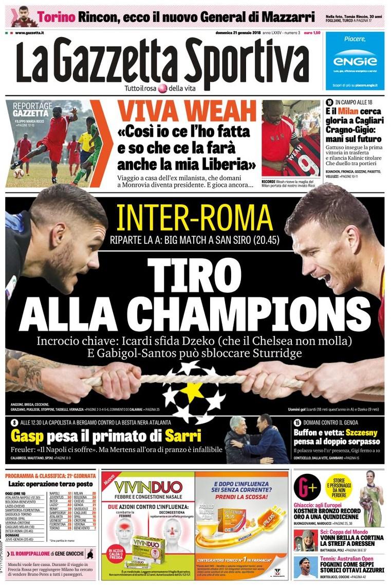 Gazzetta tiro alla Champions