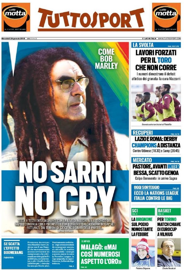Tuttosport No Sarry no