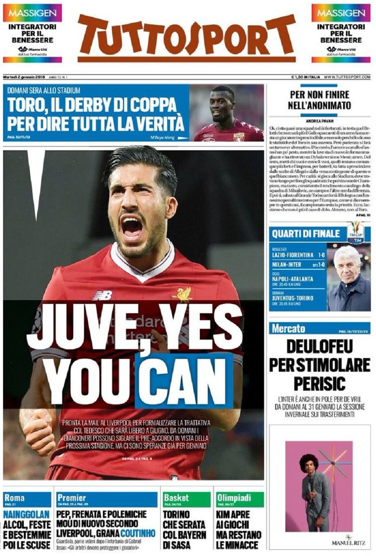Tuttosport Yes you
