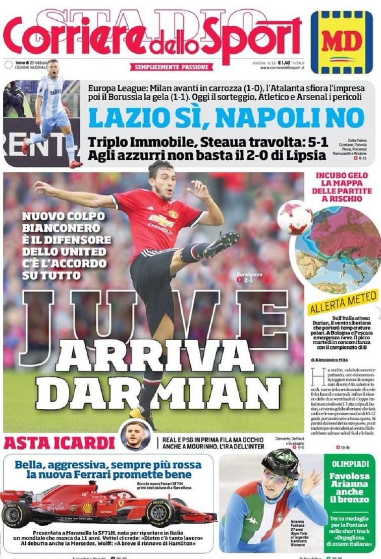 Corriere sport Darmian