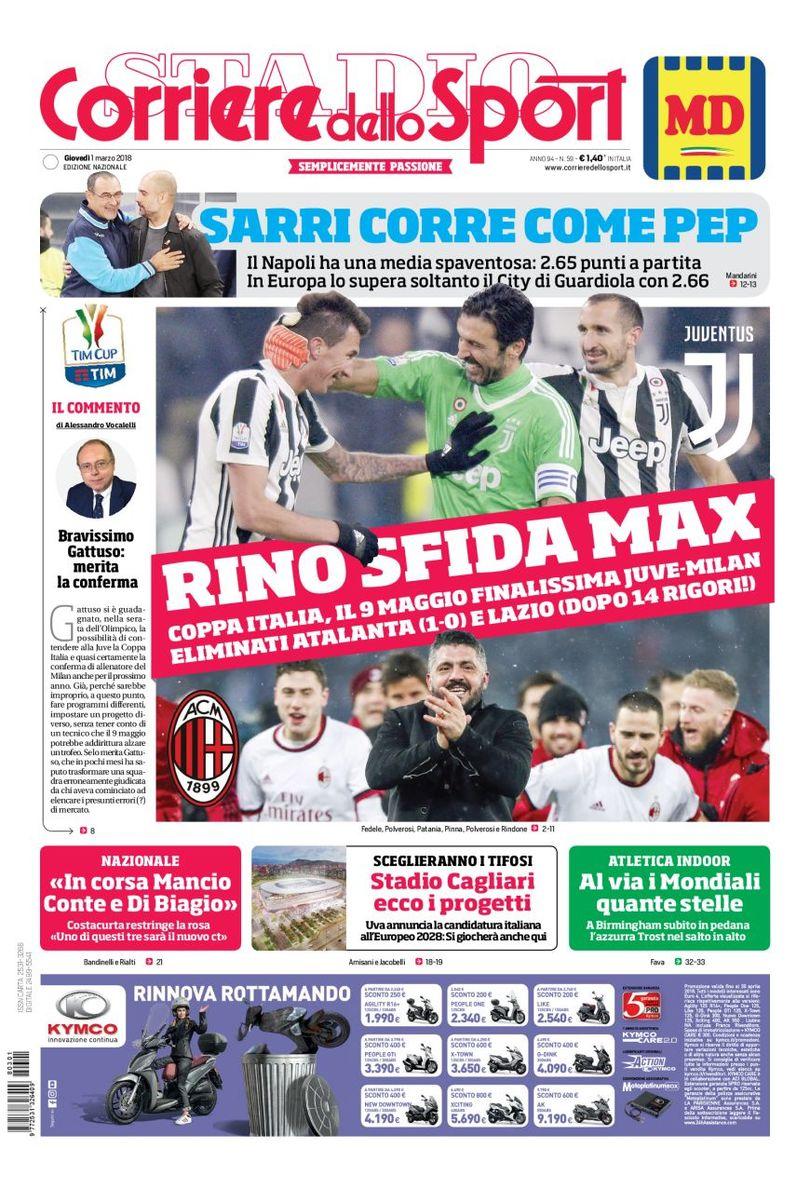 Corriere sport Rino Pep