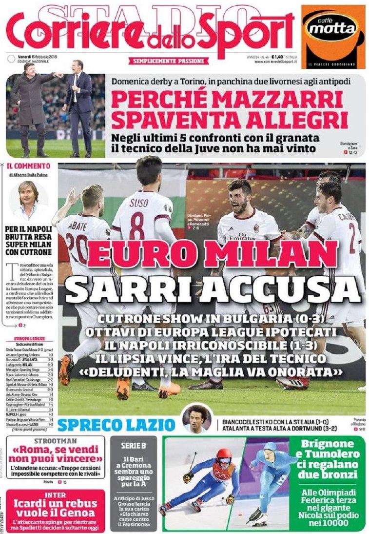 Corriere sport Sarri accusa