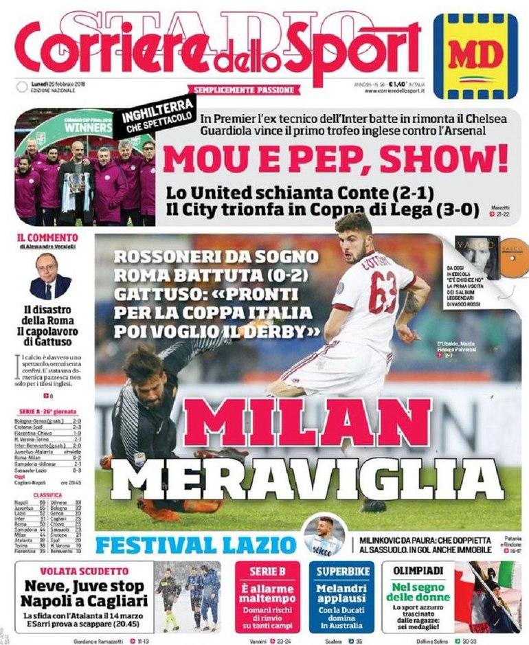 Corriere sport meraviglia