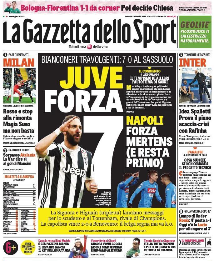 Gazzetta Juve forza 7