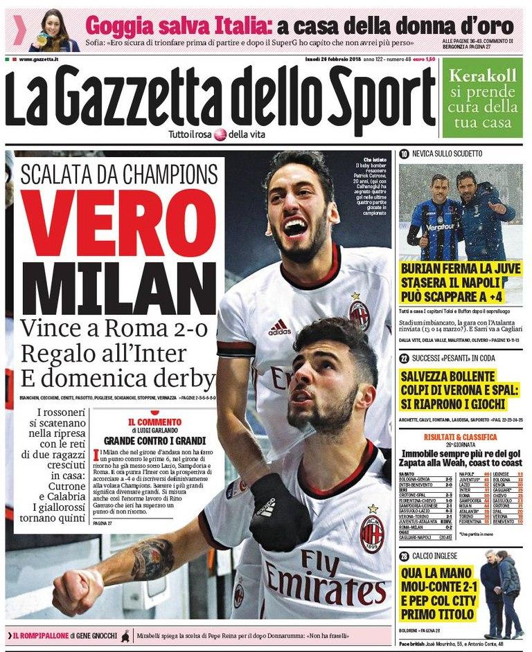 Gazzetta Vero Milan